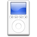 mp3 player, ipod, blue icon