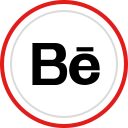 media, brand, behance, social, logo icon