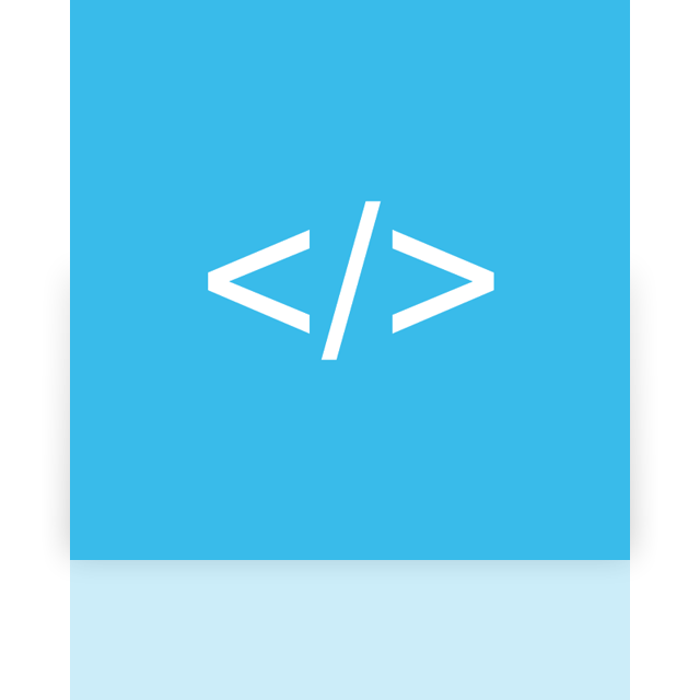 mirror, app, coding icon