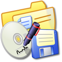 yellow, folder, backup icon