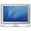 blue, cinema, computer, display, front, monitor, screen, old icon