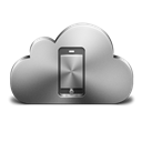 Cloud, Device, , Mobile, Silver icon