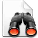 find, search, file, binoculars icon