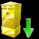Box, Down, Letter icon
