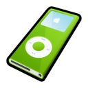 green, ipod, nano, mp3 player icon