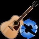 guitar,refresh,instrument icon