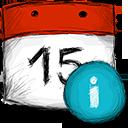 info, date icon