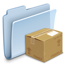package, pack, folder, badged icon