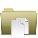 Folder Documents Brown icon