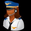 Dark, Female, Pilot icon
