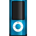 nano, ipod, blue icon
