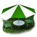 umbrella, beach, picnic icon