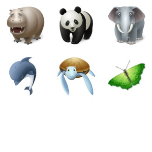 Animals icon sets preview