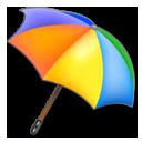 colors, umbrella icon