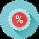 promotion, badge, %, discount, price icon