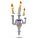 floating, candle icon