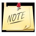 Note, Postit icon