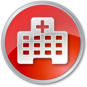 hospital,red icon