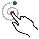 gestureworks, stroke, shape, left, spiral icon