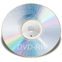 blue, disc, dvd, rw icon