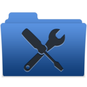 smooth navy blue utilities 1 icon