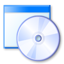 cd, disc, window, dvd icon