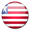 liberia,flag,country icon