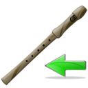 flute,back,instrument icon