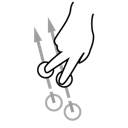 swipe, finger, two, gestureworks icon