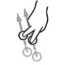swipe, finger, two, gestureworks icon