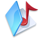 blue, music, folder icon