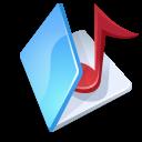 folder,music,blue icon