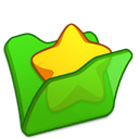 Favourite, Folder, Green icon