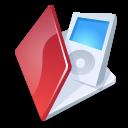 Folder, Ipod, Red icon
