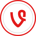 vine, brand, media, social, logo icon