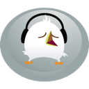 bird, twitter, headphones icon