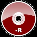 r, dvd, hd icon