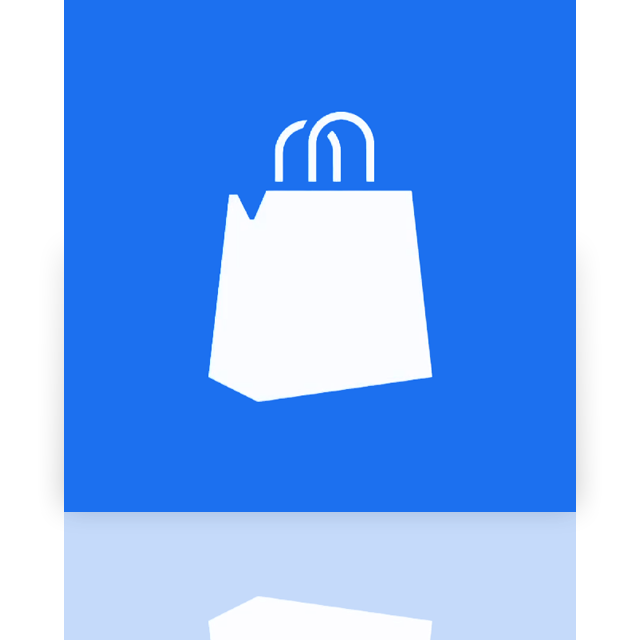 marketplace, mirror, window icon