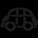 Car hand drawn toy icon