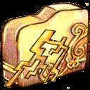 folder,ele,thunder icon