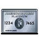 american, platinum, express icon