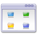user interface, folders, window icon