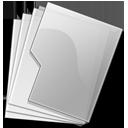 folder,silver icon