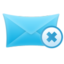 mail, delete icon