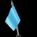 Map Marker Flag 2 Left Azure icon