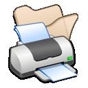 printer, beige, folder icon