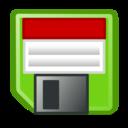 floppy,disc,green icon