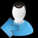 user arrow left icon