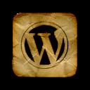 square, wordpress, logo icon