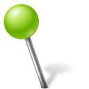 left, ball, chartreuse, mapmarker icon